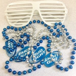Other - Fun 😂 Bud Light beads and glasses bundle 🥳